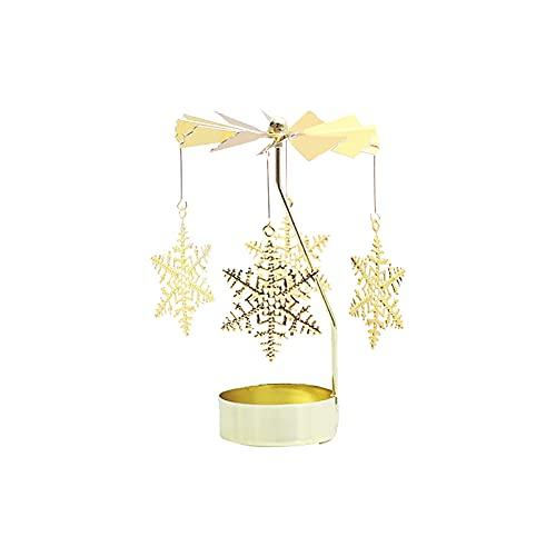 Portavelas de metal, candelabro de velas, moderno y minimalista, para decoración romántica del hogar, boda, Navidad, decoración para fiestas, Navidad (amarillo claro)