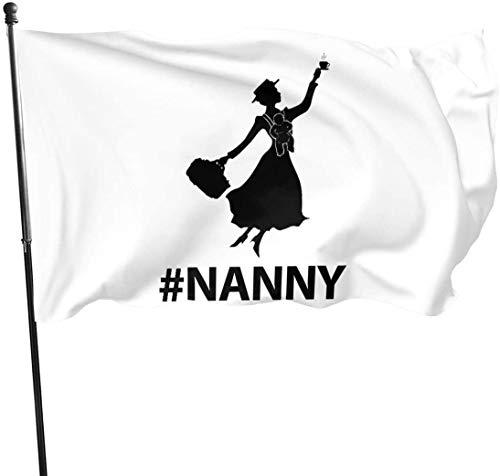 Viplili Nanny Baby Hausgarten Flagge für Outdoor House Veranda Willkommen Urlaub Dekoration, Fit Weihnachten/Geburtstag/Happy New, 3x5ft