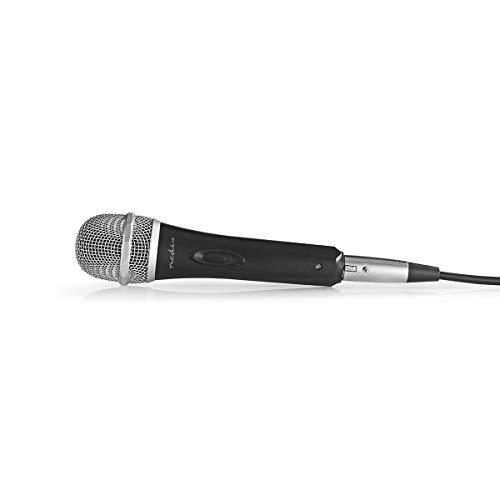 TronicXL Dynamisches Mikrofon Profi Metall Gesang & Bühne + 5m Kabel XRL auf 6,35mm KLINKE + Popschutz Mic Set Premium Micro Gesangs Mikro dynamisch schwarz silber Gesangsmikrofon Klinkenstecker