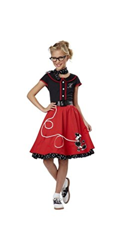 50's Sweetheart Child Costume Red - Medium - http://coolthings.us