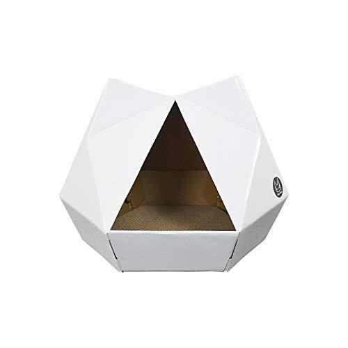 Sizwea Serie Origami Arena para Gatos rascador de Gatos Papel Corrugado afilador de Garras Resistente al Desgaste Juguetes para Gatos Suministros para Gatos