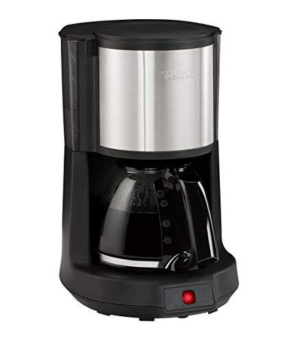 Tefal CM 3708freistehend vollautomatisch–Kaffeemaschine (freistehend, Vakuum-Kaffeemaschine, 1,25l, gemahlener Kaffee, 1000W, Schwarz, Edelstahl)
