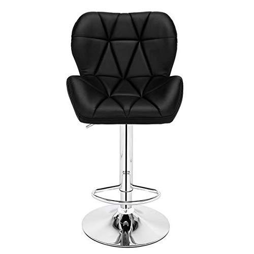 T-ara Suave y Confortable 2 Silla de Barra reclinada del corazón Levantamiento Negro diseño de Moda