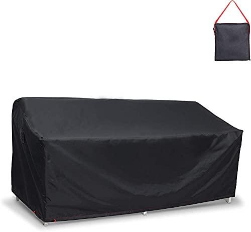 Terrasse Sofa Abdeckung im Freien stärket dauerhafte uv wasserbeständige Anti-Fading-Multi-Person-Sofa-Abdeckung mit Upgrade Luft Vent schwarz 104 wx40 dx35 h-60 WX35 DX35 H