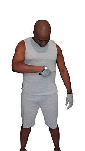 Photo of SIMEON TUITT® Knife Slash Resistant Vest Knife Protection Anti Slash Clothing Cut Resistant Fabric Covert Knife Crime Protection Cut Resistant Vest Knife Slashing Protection (Extra Large) Grey