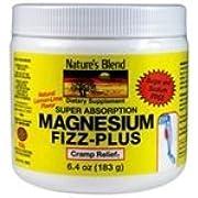 Nature's Blend Magnesium Fizz-Plus Lemon-Lime Flavor 6.4 oz Powder