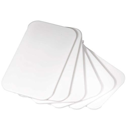 SIDCO Schneidebrett Kunststoff weiß 6 x Frühstücksbrettchen kleine Brettchen 25x15 cm
