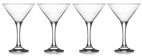 Epure Milano Collection 4 Piece Glass Set (Martini Glass (6 oz))