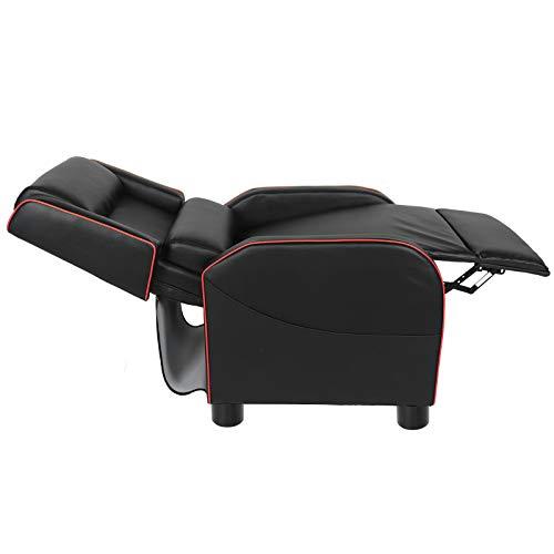 Shipenophy Silla reclinable con Respaldo Sillón reclinable para Juegos Sofá reclinable Resistente al Desgaste con reposapiés Ajustable para la Sala de Estar del hogar(Red)