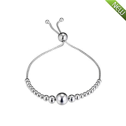 PANDOCCI 2018 Winter 925 Silber Perlenkette Schiebearmband DIY Passt für Original Pandora Armbänder Charme Modeschmuck