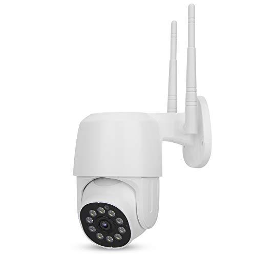 FOLOSAFENAR Cámara IR-Cut PTZ Seguimiento Inteligente 1080P WiFi PTZ Cámara WiFi Visión Nocturna, para Uso doméstico /(European regulations)