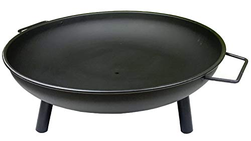 N / A Folding Fire Pit, Enamel Brazier Heater, Multifunctional Camping Bowl BBQ, For Indoor Outdoor Garden Patio Grill Wood Charcoal