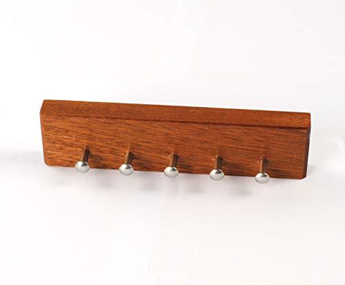 ML-Technikdesign Schlüsselbrett Schlüsselleiste aus Massiv Holz (Mahagony) eckiges Design