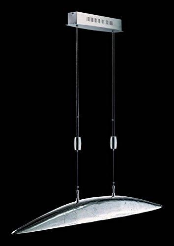 LED Pendelleuchte Shine - ALU / 6-flg. Pendelschale Nickel antik / Nickel matt