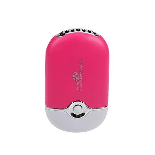 FRCOLOR Klimaanlage Tragbare Mini Handventilator USB Miniklimaanlagen (Rose Rot)