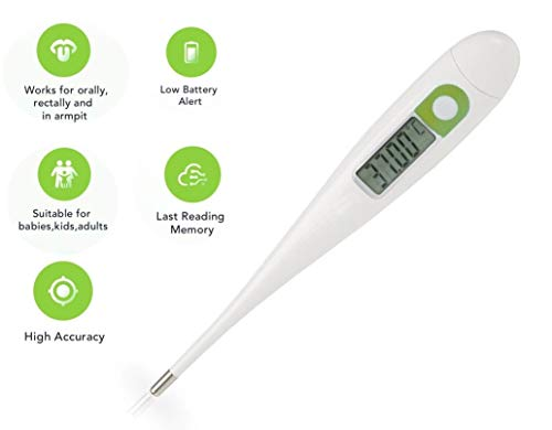 Digital-Medical-Thermometer-Highly-Accurate-1100th-Degree-Accuracy-Oral-Rectal-Underarm-Waterproof-Basal-Thermometer-for-Adults-or-Children
