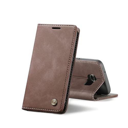 Chocoyi Custodia per Samsung Galaxy S7 Edge Flip Caso in PU Pelle Premium Portafoglio Custodia,Supporto Stand,Chiusura Magnetica-caffè