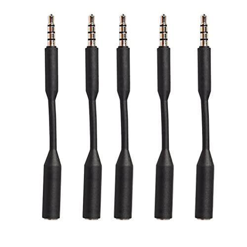 Kaxofang Cable de ExtensióN de Audio Jack de 3,5 Mm Macho una Hembra, Cable Jack de 3,5 Mm para TeléFonos, Auriculares, Tabletas, PC y MáS -5 Piezas