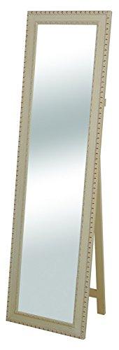 "SBC Decor Ashley Cheval Full Length Mirror, 18 1/8"" X 65 1/2"" X 1 3/4"", Antique White"