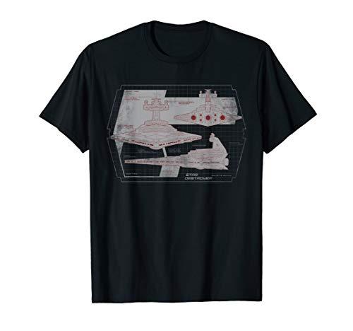 Star Wars Imperial Star Destroyer Diagram T-Shirt