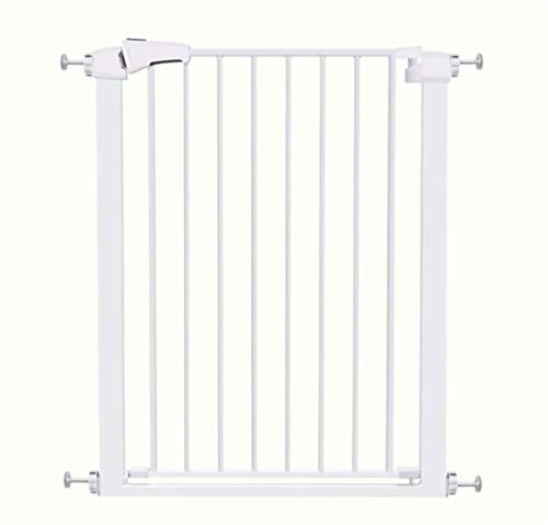 Jacquelyn Safety Gate Metal Adjustable Baby Pet Safety Gate Stair Gate Auto-Close with Pressure Mount Expandable Stands 76cm tall The width can be selected from 82 to 162cm Ideal for Kids and Pets