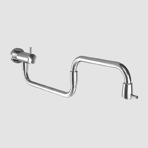 KCW 10.500.357.700 Systema Wall Pot Filler, 24', Solid Stainless Steel Finish