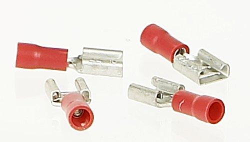 Cartec 102805 10 Cosses Plate avec Femelle, Rouge