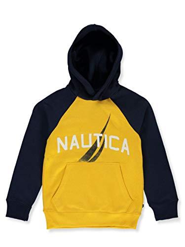 Nautica Big Boys' Raglan Logo Hoodie - Yellow, 14-16