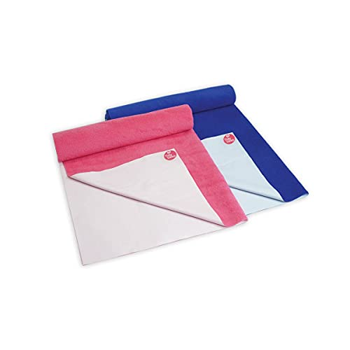TIDY SLEEP Polyester Ultra Absorbent Baby Dry Sheets and Bed Protector Combo - (70cm X 100cm, Medium, Hot Pink and Royal Blue) - Set of 2
