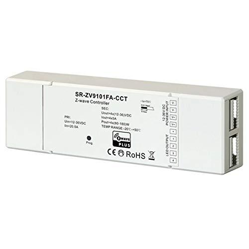 Controller LED Z-Wave per strisce LED CCT bianco caldo, bianco freddo, RGBW o RGBWW per 12 V o 24 V testato da casa, Samsung SmartThings, Rgbw Rgbww.