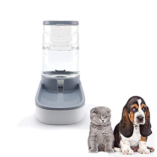 Bebedero Automático para Gatos y Perros,Dispensador De Agua,Dispensador De Comida,Dispensador De Agua Automático para Gatos y Perros,Adecuado para Mascotas Pequeñas y Medianas(Gris,3.8L)