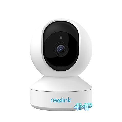 Reolink 4MP IP Kamera Überwachungskamera Innen WLAN schwenkbar, 2,4Ghz und 5Ghz WiFi, 2-Wege-Audio, Home und Baby Monitor mit Bewegungserkennung, E1 Pro