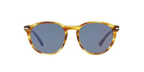 Persol Herren 0Po3152S 904356 52 Sonnenbrille, Gelb (Striped Brown Yellow/Blue)