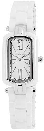 Cerruti Damen Analog Quarz Uhr mit Keramik Armband CRN009Z251B