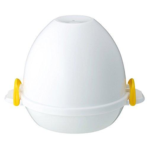 曙産業 ゆでたまご器 4個用 日本製 電子レンジで簡単安全にゆで卵が作れる 半熟・固ゆでが思いのまま フタ...
