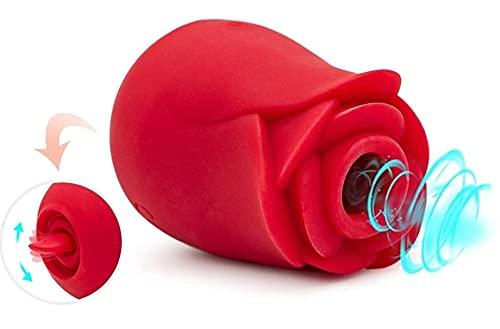 2021 Tọy Flower Shape with 7 Gears, Rọse Clịtọriāl Rechargeable Washable, Clįtoräls Stįmulätion Šûctiõn, Sụck & Lịck Functional Şụckįng tÕýş for Women Nịpple Plẹasurẹ Quiet
