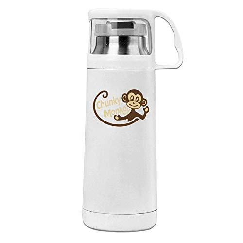 Bestqe Termo,Botella de agua,Tazas térmicas Chunky Monkey Insulated Stainless Steel Thermos Cup Portable Water Bottle with Handle Vacuum Tea Cup Travel Mug