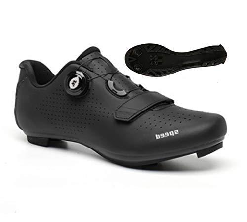 Govoland Mountain Bike Highway Bicicleta Hombres Y Mujeres Compatible Antideslizante Calzado Zapatos De Bicicleta(42, Road Lock)
