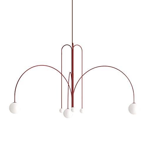 SHUHAO Lámparas de araña, 6 Luz Pendiente de la luz de la...