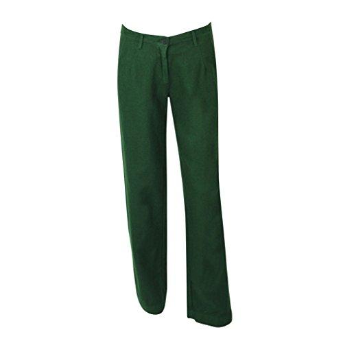 Massimo Alba Womens Gurami Wool Flannel Trouser Emerald 40