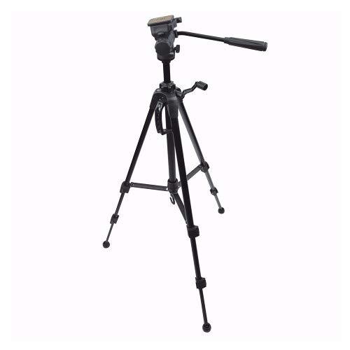 Tripe Universal 1,80M preto para Câmeras Fotográficas com suporte para celular