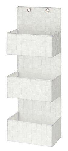 WENKO Organizador colgante para el baño Adria blanco - 3 pisos, Polipropileno, 25 x 72 x 15.5 cm, Blanco