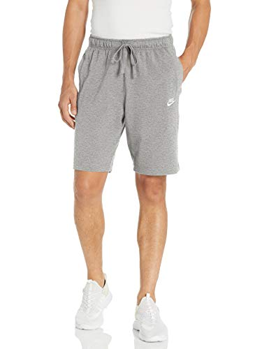 Nike NSW Club Short JSY Homme, Gris (DK Grey Heather/White) XS