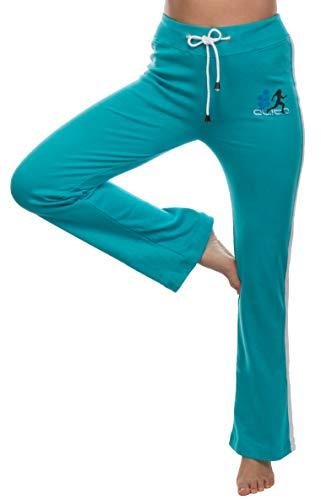 Brandsseller dames sportbroek joggingbroek trainingsbroek vrijetijdsbroek - met klein printmotief en contrasterende strepen