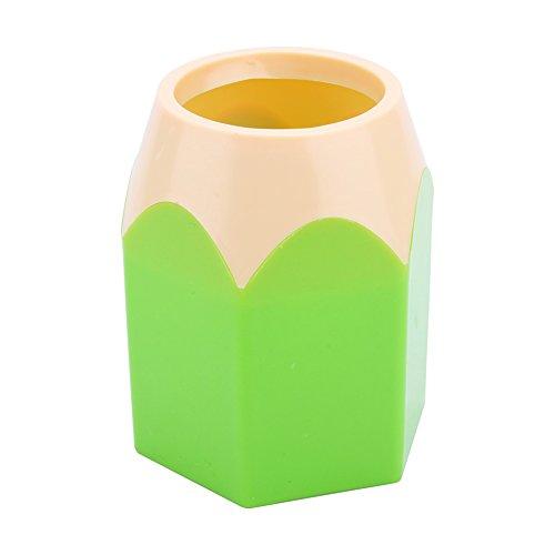 Yosoo Super Cute Pencil Tip Design Pencil Pen Holder Pencil Cup Desk Organizer (Green)