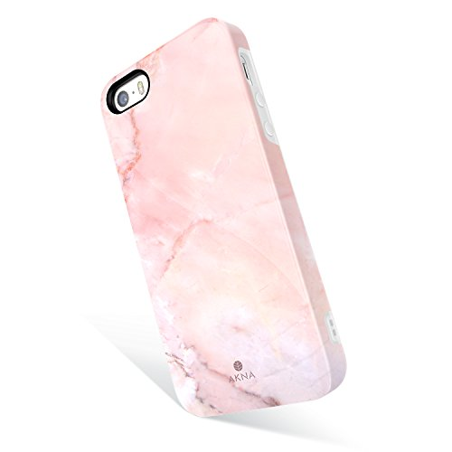 iPhone 5 / 5s /SE case Marble, Akna Get-It-Now Collection High Impact Flexible Silicon Cover for iPhone5/5s/SE (347-U.S)