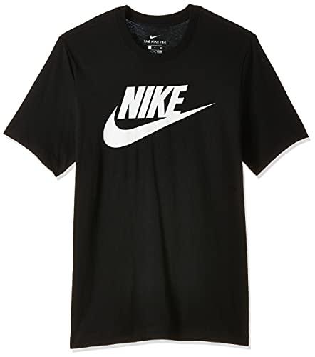NIKE M NSW tee Icon Futura Camiseta de Manga Corta, Hombre, Black/White, XS