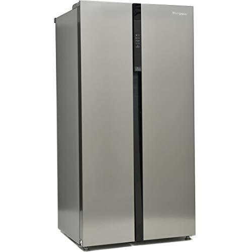 Montpellier 510 Litre American Fridge Freezer - Stainless steel