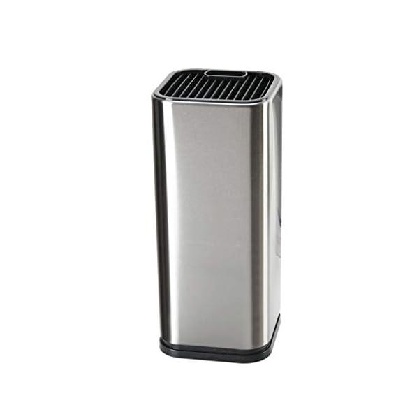 GuDoQi Porta Cuchillos Cocina Universal Acero Inoxidable Portacuchillas Cuadrado Suave al Tacto para Almacenamiento…
