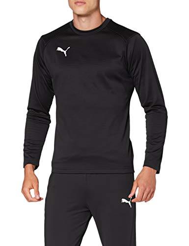 PUMA Liga Training Sweat, Maglietta Uomo, Nero Black White, S